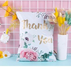 Thank You Flowers PolyMailers 10X13 (10 Pack)